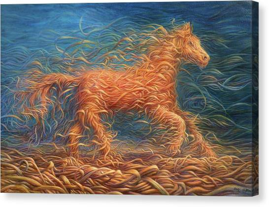 Swirly Horse 1 Canvas Print