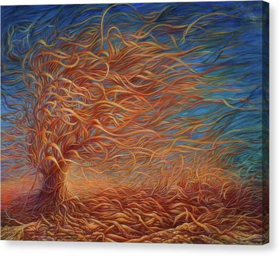 Swirly Tree 2 Canvas Print