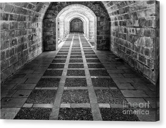 Symmetry In Black And White Canvas Print