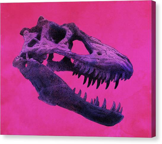 Magenta Canvas Print - T-rex by Eric Fan