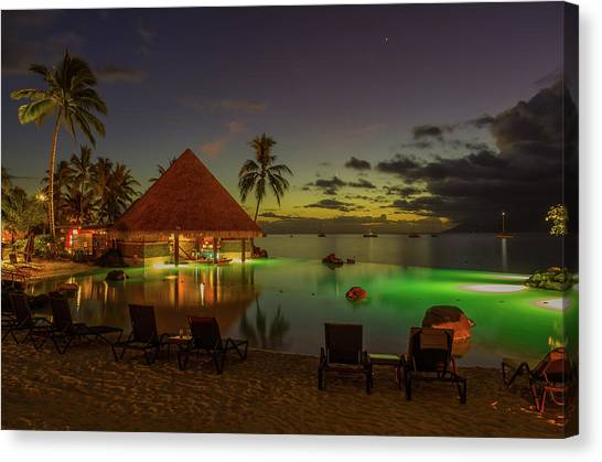 Snorkling Canvas Print - Tahitian Twilight by Scott McGuire