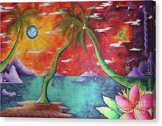 Canvas Print - Take Me To The Tropics Tropical Surrealism Mad Wonderland By Megan Duncanson by Megan Duncanson