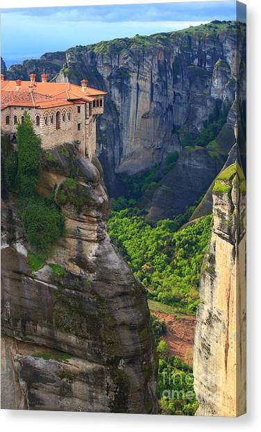 Orthodox Canvas Print - Tall Rock Pillars And The Holly by Inu