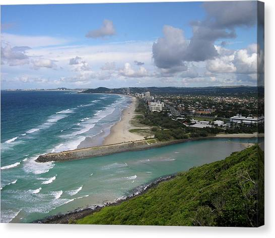 Tallebudgera Palm Beach Canvas Print
