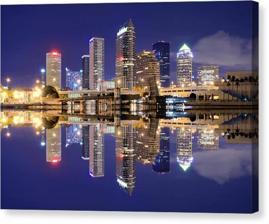 Tampa Bay Skyline Canvas Print by Sean Pavone