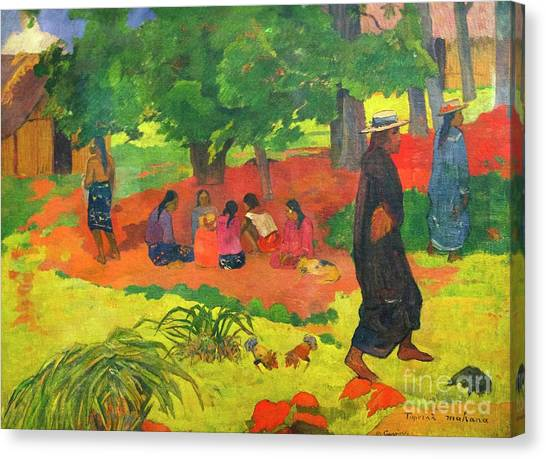 State Hermitage Canvas Print - Taperaa Mahana, Late Afternoon by Peter Barritt