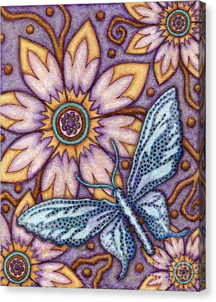 Tapestry Butterfly Canvas Print