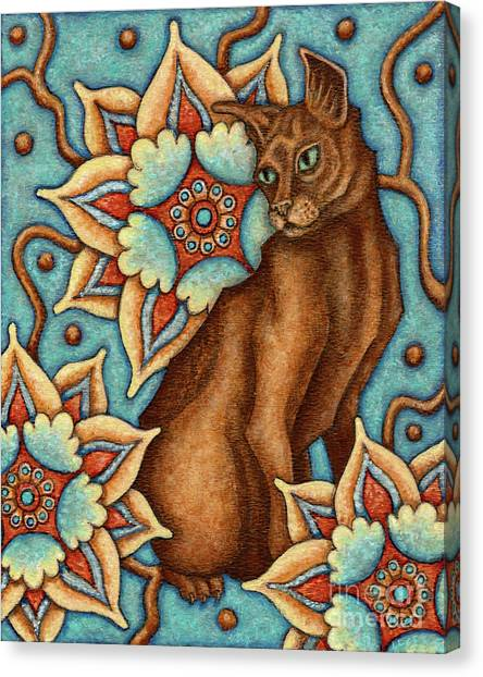 Tapestry Cat Canvas Print