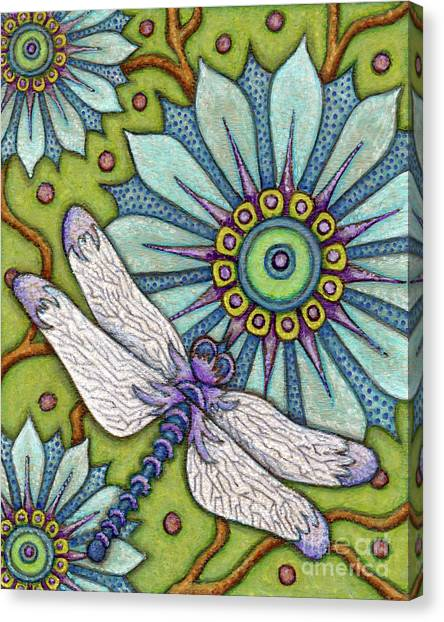 Tapestry Dragonfly Canvas Print