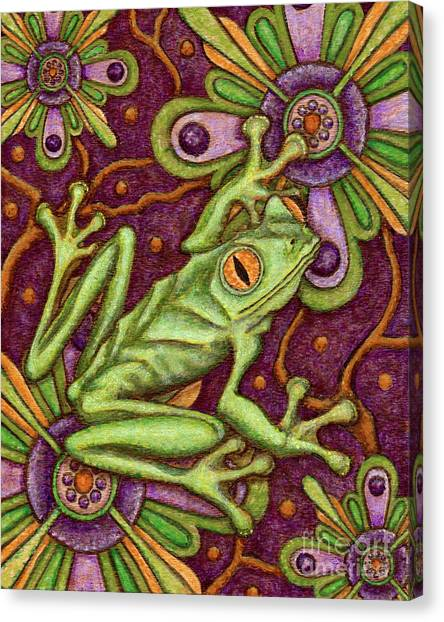 Tapestry Frog Canvas Print