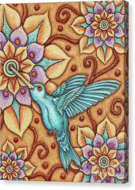 Tapestry Hummingbird Canvas Print