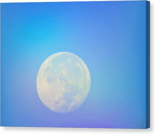 Taurus Almost Full Moon Blend Canvas Print
