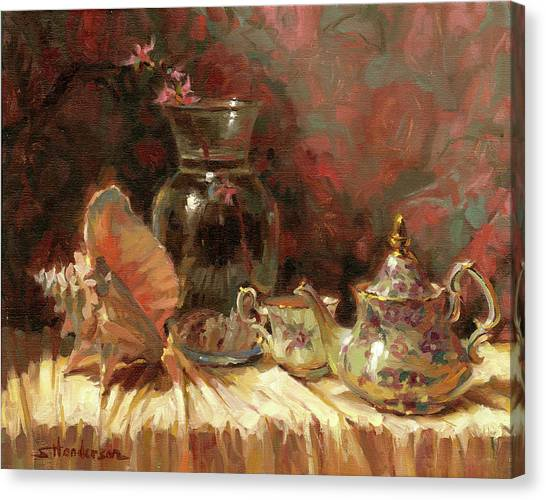 Background Canvas Print - Tea By The Sea by Steve Henderson
