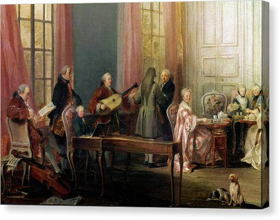 Harpsichords Canvas Print - Tea Party With The Prince Of Conti At by Leemage