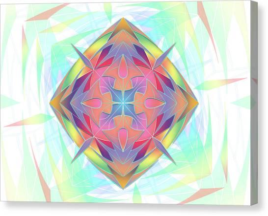 Canvas Print featuring the digital art Techno Fantasy by Vitaly Mishurovsky