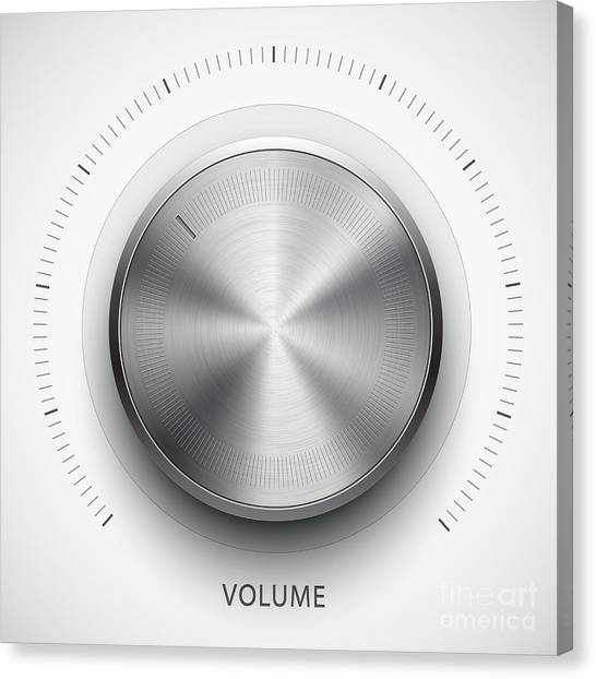 Grey Background Canvas Print - Technology Music Button Volume by Molaruso