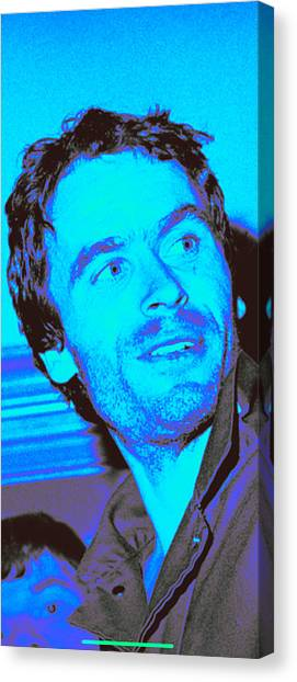 Ted Bundy Canvas Print - Ted Bundy Blue by Eden OBrien