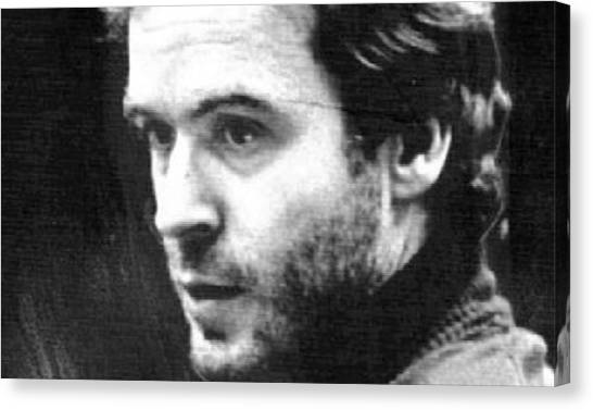 Ted Bundy Canvas Print - Ted Bundy Court by Eden OBrien