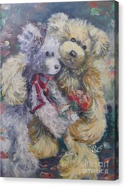 Teddy Bear Honeymooon Canvas Print