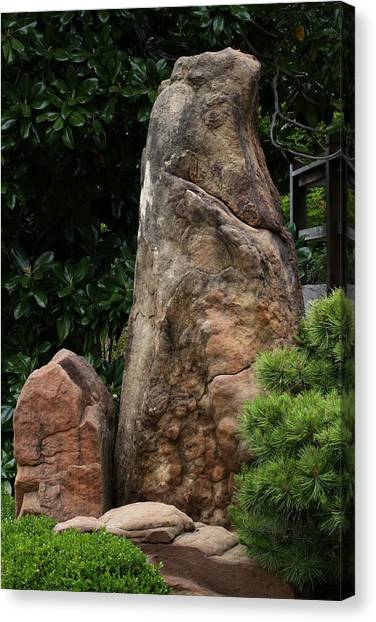 Canvas Print featuring the photograph Teeny Weeny And Biggy Wiggy - Rock Formations by Debi Dalio