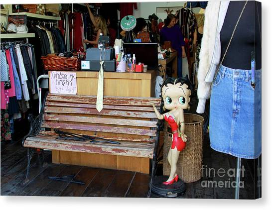 Canvas Print featuring the photograph Tel Aviv Flea Market by PJ Boylan