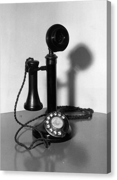 Telephone Canvas Print by Fox Photos