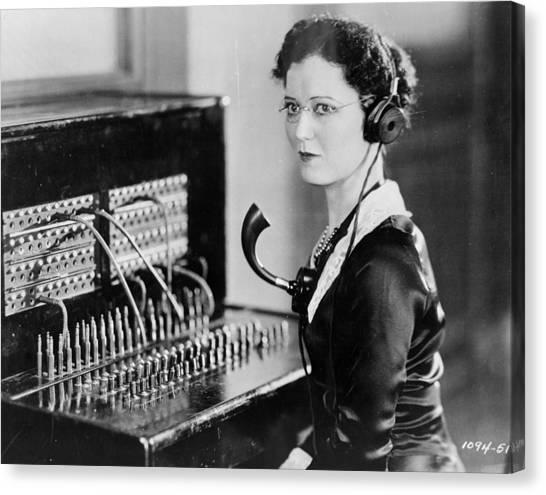 Telephone Operator Canvas Print