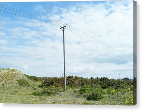 Telephone Pole In Landscape Canvas Print