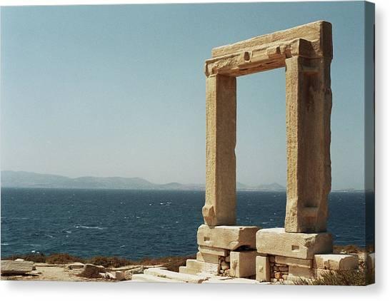 Temple Of Apollo In Naxos, Greece Canvas Print
