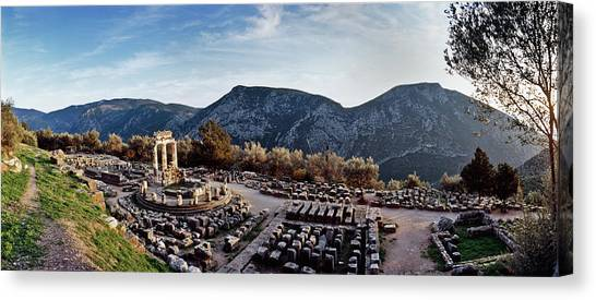 Temple Of Athena In Ancient Delphi Canvas Print