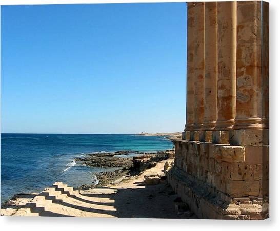Temple Of Isis, Sabratha, Libya Canvas Print by Joe & Clair Carnegie / Libyan Soup