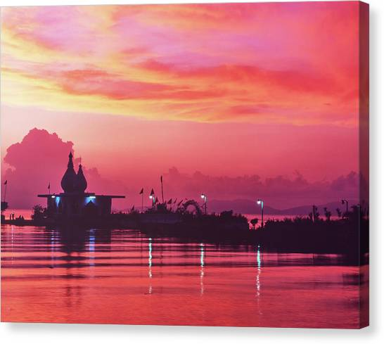 Temple On The Sea Canvas Print