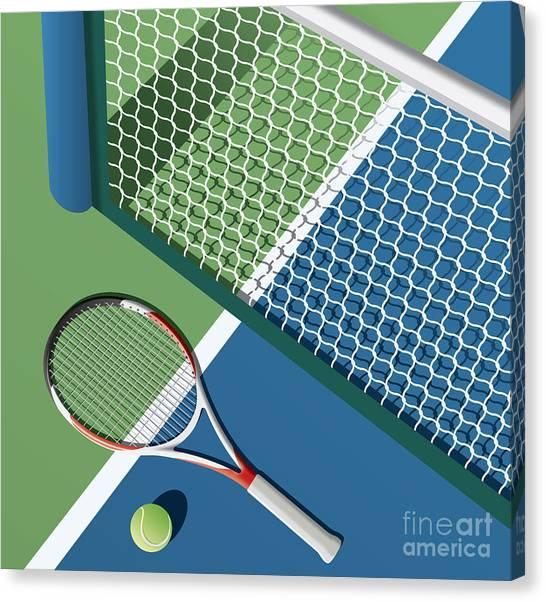 Fitness Canvas Print - Tennis Court by Nikola Knezevic
