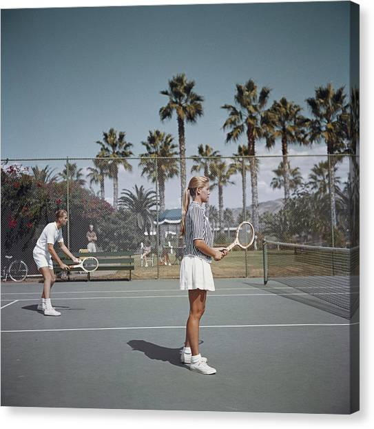 Tennis In San Diego Canvas Print