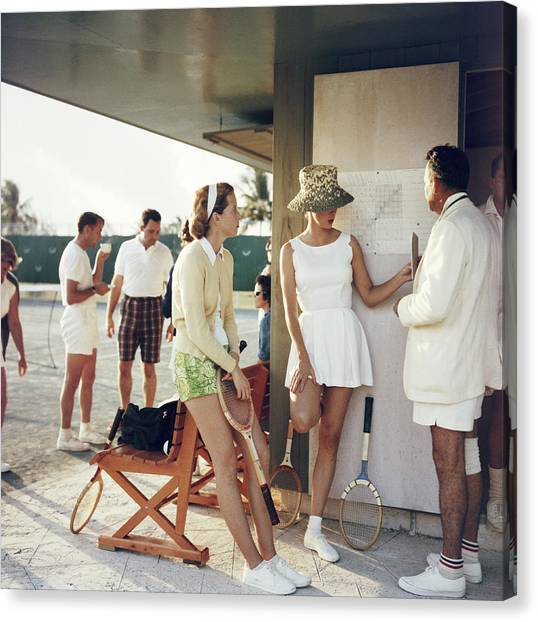 Tennis In The Bahamas Canvas Print by Slim Aarons