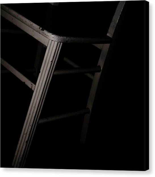 Canvas Print featuring the photograph Tentative / The Chair Project by Dutch Bieber