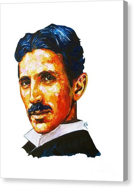 Tesla - Pure Genius Canvas Print