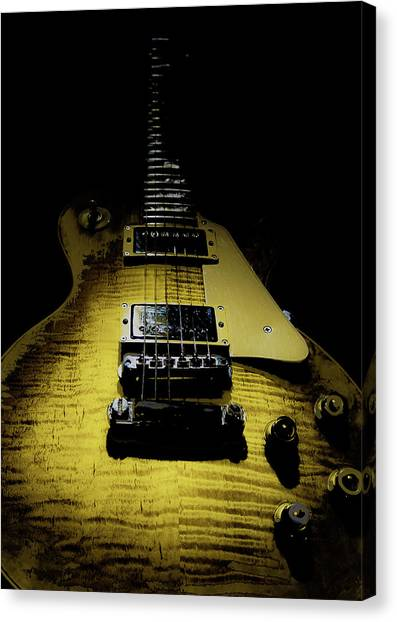 Honest Play Wear Tour Worn Relic Guitar Canvas Print