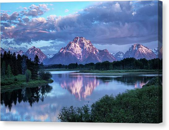 Teton Oxbow Morning 9087 Canvas Print