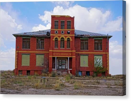 Texas Ghost Town School  Canvas Print