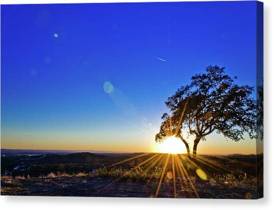 Texas Hill Country At Sunset Canvas Print