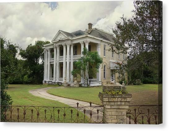 Texas Mansion In Ruin Canvas Print