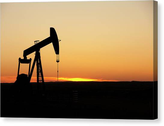Texas Oil Well Canvas Print by Clickhere