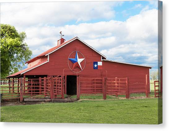 Texas Red Barn Canvas Print