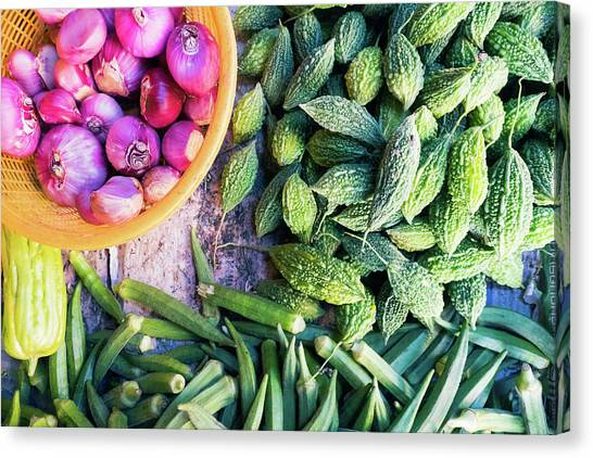 Thai Market Vegetables Canvas Print