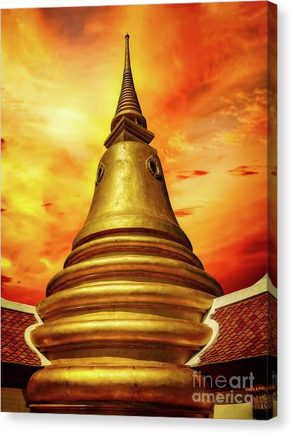 Canvas Print - Thai Temple Sunset by Adrian Evans
