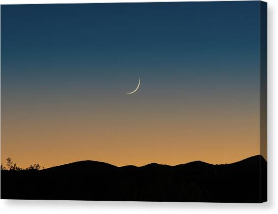 That Desert Moon Canvas Print