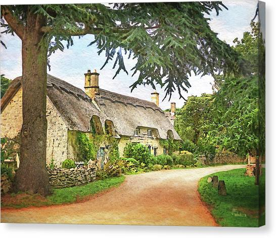 Thatched Roof Lane2 Canvas Print by Joe Winkler