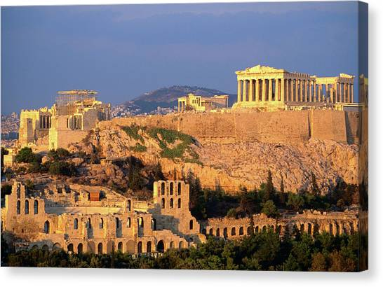 The Acropolis Taken From Phiopappos Canvas Print