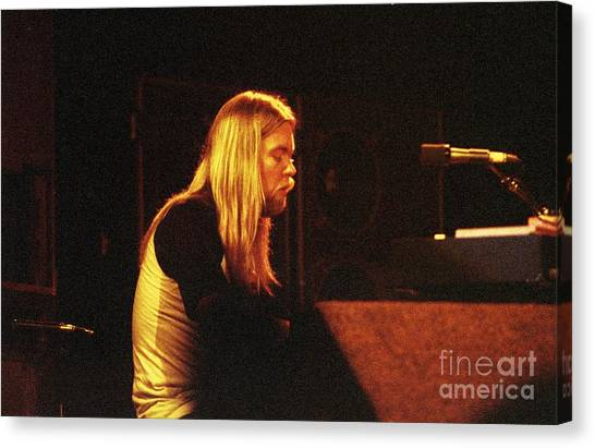 The Allman Brothers Canvas Print - The Allman Brothers Band by Bill O'Leary